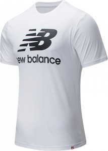 T-shirt New Balance z nadrukiem z bawełny