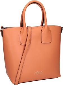 Pomarańczowa torebka NOBO matowa do ręki duża