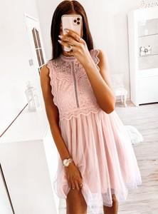 Sukienka Pakuten bez rękawów mini z bawełny