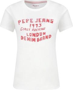 T-shirt Pepe Jeans z krótkim rękawem z okrągłym dekoltem