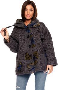 Kurtka Plus Size Fashion w stylu casual z wełny