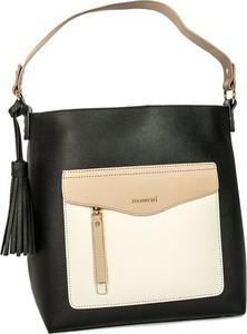 Czarna torebka Monnari na ramię w stylu glamour matowa