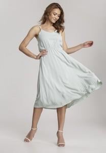 Miętowa sukienka Renee na ramiączkach