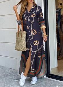 Sukienka Sandbella z dekoltem w kształcie litery v prosta maxi