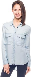 Niebieska koszula Guess w stylu casual z długim rękawem