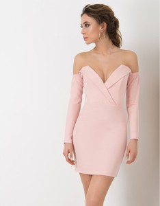 Sukienka Flawdress mini z długim rękawem