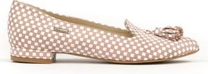 Baleriny Zapato w stylu glamour z płaską podeszwą ze skóry