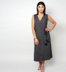 Sukienka Willsoor z dekoltem w kształcie litery v maxi