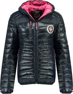 Czarna kurtka Geographical Norway w stylu casual