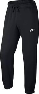 Czarne spodnie sportowe Nike z dzianiny