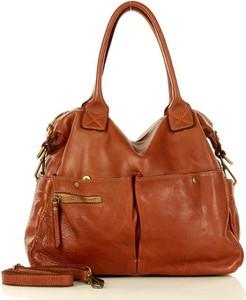 Brązowa torebka Marco Mazzini Handmade na ramię w stylu retro