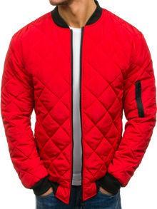 Czerwona kurtka denley w street stylu