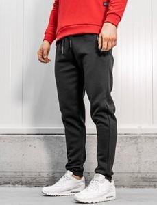 Czarne spodnie sportowe Denley w stylu casual