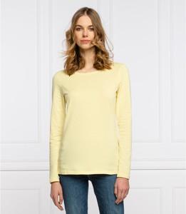 Żółta bluzka Marc O'Polo z okrągłym dekoltem w stylu casual