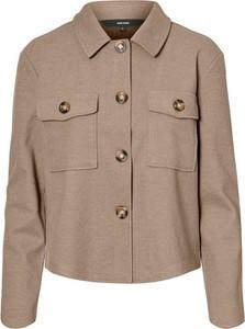 Brązowa kurtka Vero Moda w stylu casual