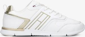 Buty sportowe Tommy Hilfiger z płaską podeszwą ze skóry sznurowane