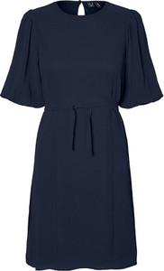 Sukienka Vero Moda mini z okrągłym dekoltem z krótkim rękawem
