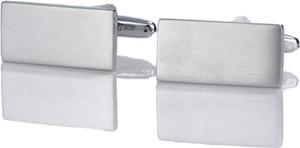 Em Men`s Accessories Spinki do mankietów klasyczne srebrne eleganckie EM 6