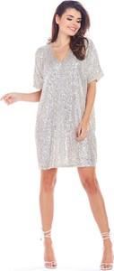 Srebrna sukienka Awama