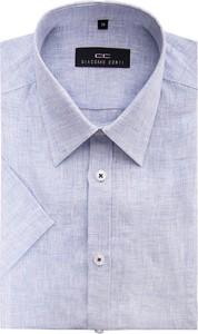 Koszula giacomo conti z krótkim rękawem z lnu
