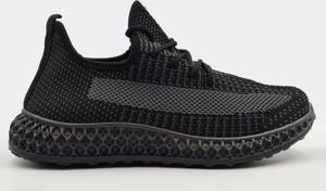 Czarne buty sportowe Labuty ze skóry