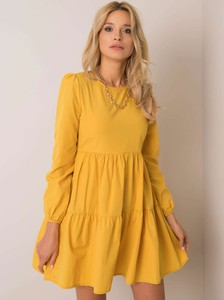 Żółta sukienka Sheandher.pl w stylu casual mini