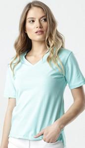 Zielona bluzka born2be w młodzieżowym stylu z krótkim rękawem