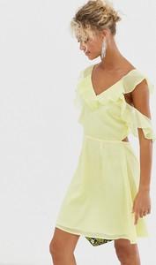 Żółta sukienka Glamorous
