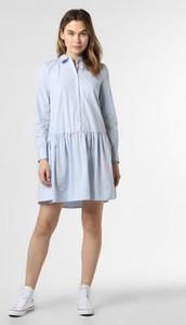 Niebieska sukienka Tommy Hilfiger mini z długim rękawem koszulowa