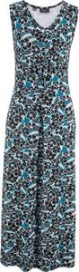 Sukienka bonprix bpc bonprix collection z dekoltem w kształcie litery v midi bez rękawów