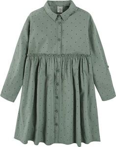 Zielona sukienka dziewczęca Cool Club z bawełny