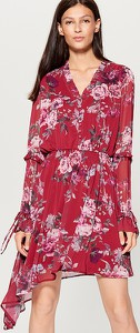Sukienka Mohito midi z długim rękawem w stylu boho