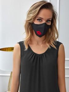 POTIS & VERSO Ochronna lniana maska Potis & Verso RED LIPS