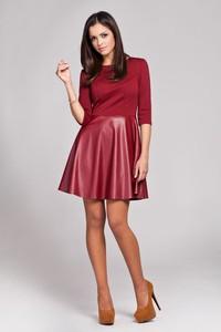 Czerwona sukienka Figl mini z długim rękawem
