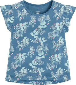 Niebieska bluzka dziecięca Cool Club z bawełny z krótkim rękawem dla dziewczynek