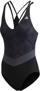 Czarny strój kąpielowy Adidas w sportowym stylu