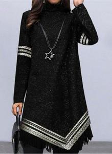 Sukienka Cikelly koszulowa z długim rękawem mini