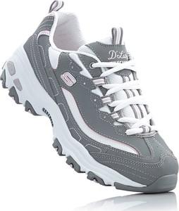 Buty sportowe Skechers ze skóry z płaską podeszwą w sportowym stylu