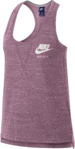 Fioletowy t-shirt Nike w stylu retro z bawełny