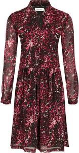Czerwona sukienka Calvin Klein z długim rękawem