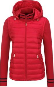 Czerwona kurtka Tommy Hilfiger krótka w stylu casual
