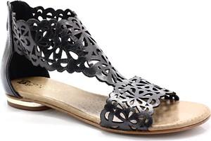 Czarne sandały Tymoteo ze skóry