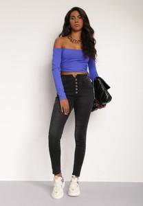 Czarne jeansy Renee w stylu casual