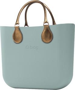 Turkusowa torebka O Bag do ręki duża