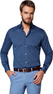 Niebieska koszula LANCERTO z bawełny