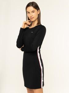 Sukienka Tommy Jeans mini z długim rękawem prosta
