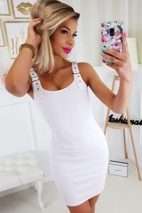 Sukienka Qessi mini w stylu casual bandażowa