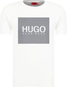 T-shirt Hugo Boss w młodzieżowym stylu z krótkim rękawem