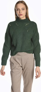 Zielony sweter Gate w stylu casual z wełny