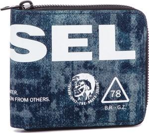 2afdd7c42d4f4 Niebieski portfel męski Diesel ze skóry